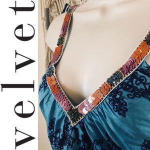 Anthropologie Dresses - Silk & sequin dress by Velvet from Anthropologie